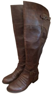 Guess Knee-high Buckle Fall Brown Boots
