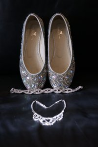 Rhinestone Sparkle Flats Wedding Shoes