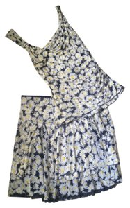 Diane von Furstenberg short dress Navy white yellow on Tradesy
