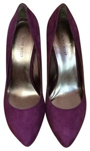 Nine West Purple Suede Wedges