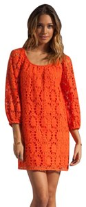 Trina Turk short dress Bellini, Orange on Tradesy