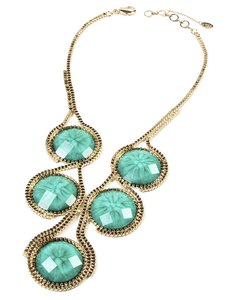 Amrita Singh Amrita Sigh Turquoise and gold necklace.