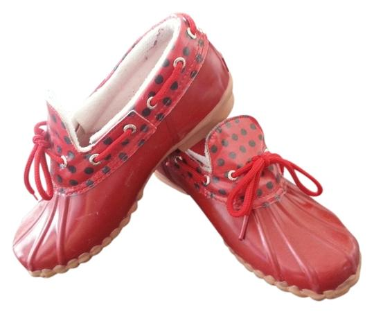 Sperry Waterproof Top-sider Red Mules