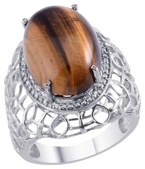 Unknown South African Tigers Eye (Ovl) Ring