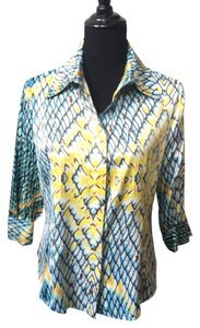Just Cavalli Silk Button Down Blouse Button Down Shirt