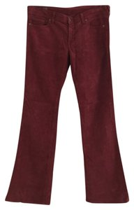 Citizens of Humanity Boot Cut Pants Burgundy