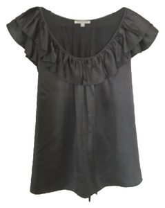 7 For All Mankind Top Charcoal Gray