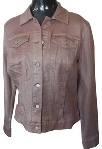 Liz Claiborne Denim metallic light pink Jacket
