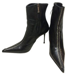 Gianmarco Lorenzi Leather Stiletto Italian Boots
