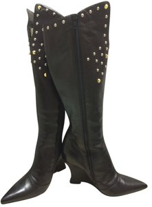 cafenoir Studded Wedge Hell Black Black Size 7 Size 7 Boots