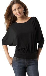 Studio M Blouson Silhouette Unlined Top Dark Navy Blue ( looks a little Black)