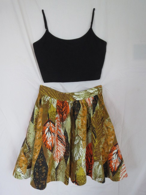 Tracy Feith Circle Girly Designer Awesome Flowy Great Quality Skirt Green