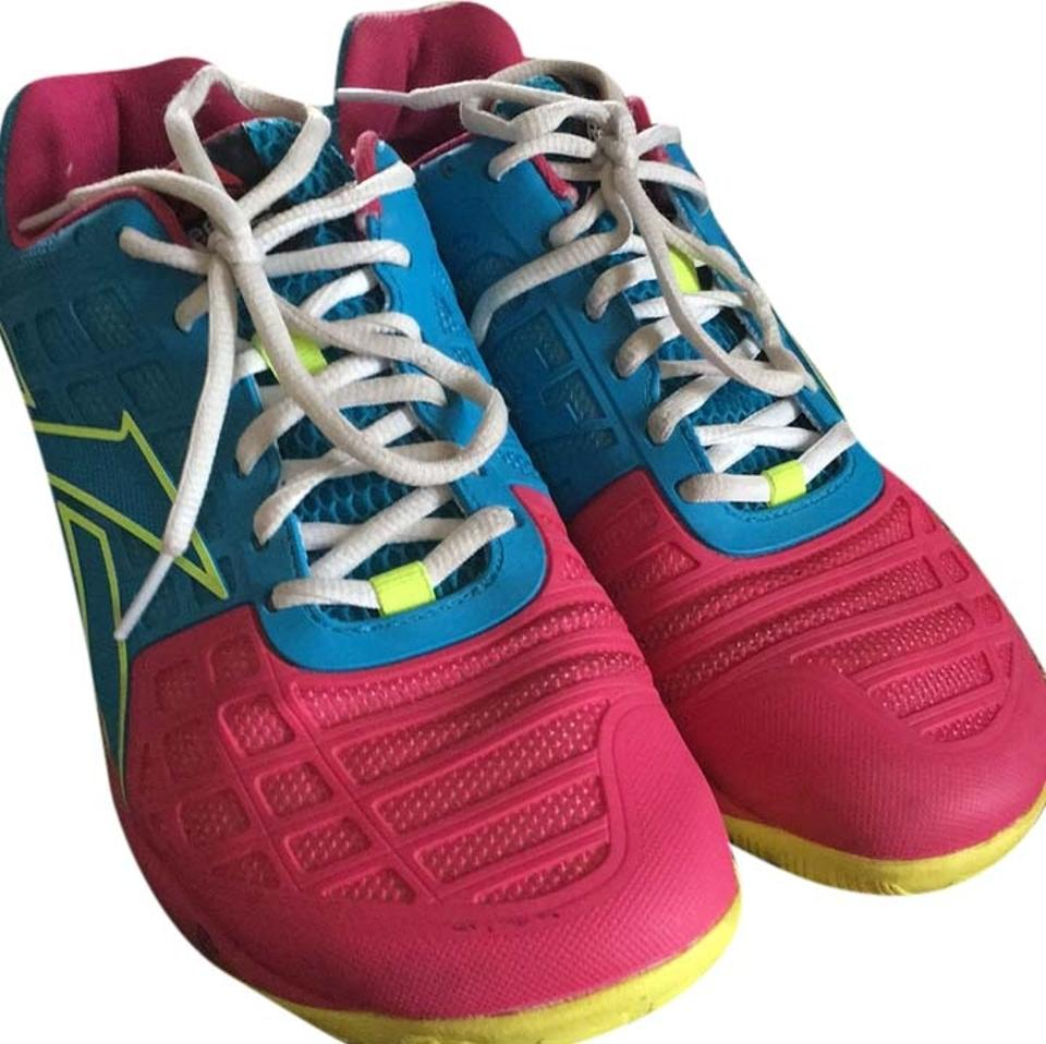 a6caec4834c Blue Yellow Pink Sneakers Size US 9 Regular (M