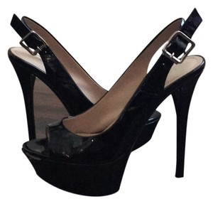 Paris Hilton Patent Leather Platform Platforms