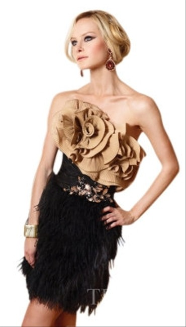 Preload https://item2.tradesy.com/images/terani-couture-blackgold-style-1107-mini-cocktail-dress-size-2-xs-7021-0-0.jpg?width=400&height=650