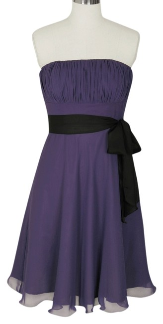 Preload https://item1.tradesy.com/images/purple-chiffon-pleated-bust-w-sash-knee-length-formal-dress-size-18-xl-plus-0x-702110-0-0.jpg?width=400&height=650