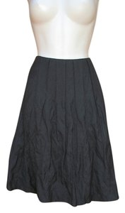 CAbi Pleated A-line Skirt Dark Gray Metallic