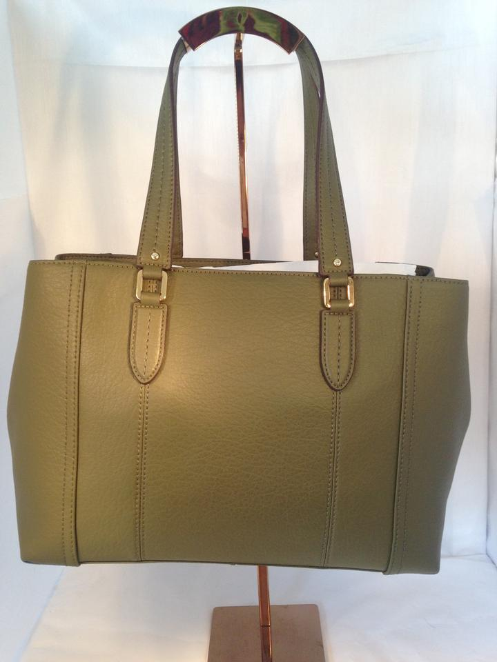 e5e7729260 Ralph Lauren Robertson Shopper Olive Green Leather Tote - Tradesy