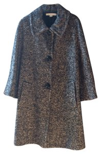 Marella Wool Italian Tweed Full Length Pea Coat