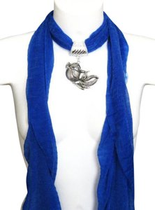 unknown Royal Blue Goldfish Jeweled Scarf Free Shipping