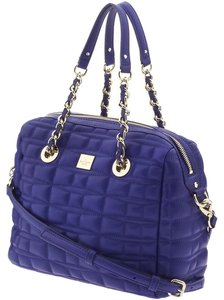 Kate Spade Very Stylish Quilted Look Satchel in Dark Blue/Cobalt Blue
