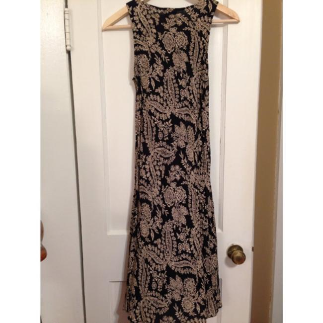 Laura Ashley short dress Black and Creme Paisley/floral on Tradesy