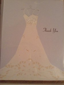 Light Blue and White Wedding Thank You Cards with Envelopes