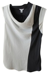 Calvin Klein Color-blocking Color Blocked Top White and Dark Grey