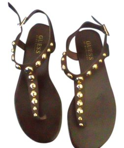 Guess Brown with Gold Studs Sandals