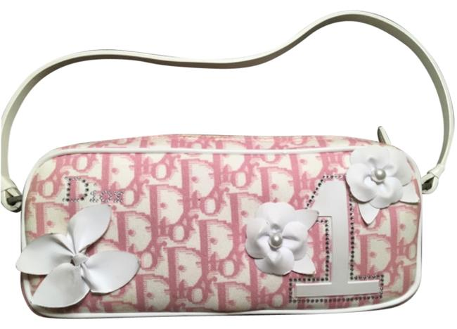 Item - Boston Christian Girly Pink and White Canvas Shoulder Bag
