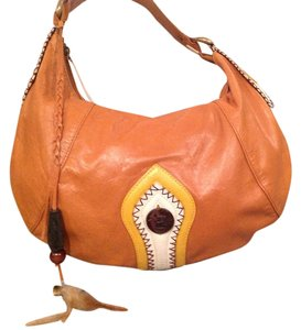 BCBGeneration Tassel Leather Hobo Bag
