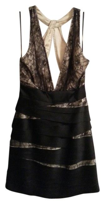 Preload https://item2.tradesy.com/images/bebe-brown-black-mini-night-out-dress-size-6-s-702466-0-0.jpg?width=400&height=650
