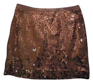 Banana Republic Sequin Mini Mini Skirt Copper