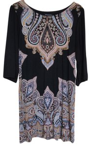 Cha Cha Vente short dress Black, Multi Paisley on Tradesy