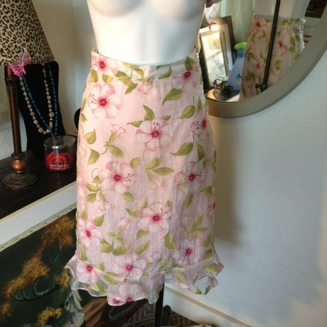 Vintage LaVie en Fleur, French 2 Pieces Floral Skirt Style Size 12 Size 11 Size 10 Flowered Dress