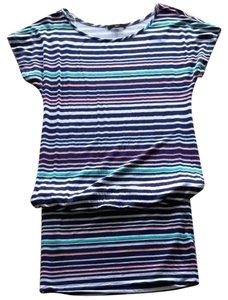 Tart Collections short dress navy stripe Dolman Tube Boatneck Striped on Tradesy
