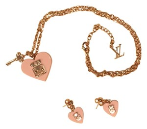 Louis Vuitton Louis Vuitton Lock Me Pendant Necklace & Earrings