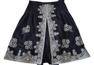 Rebecca Thompson Embroidered Sequin Skirt Black