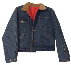 Ralph Lauren Orange Womens Jean Jacket