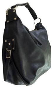 Perlina Leather Vintage Hardware Shoulder Bag
