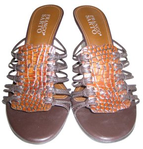 Franco Sarto Bright and dark brown Sandals