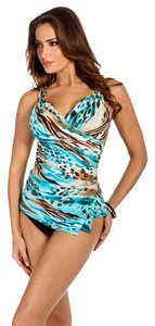 Miraclesuit Miraclesuit Paramore Underwire Bra Tankini Top~TURQUOISE