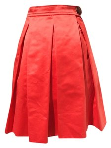 YSL Skirt Red Orange