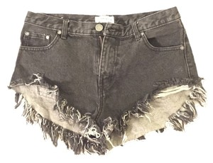 Urban Outfitters Distressed Denim Shorts-Dark Rinse