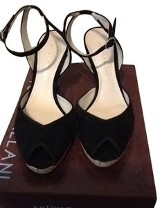 Antonio Melani Black Suede Pumps