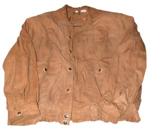 Gabicci Tan Beige Genuine Leather Tan/beige Leather Jacket