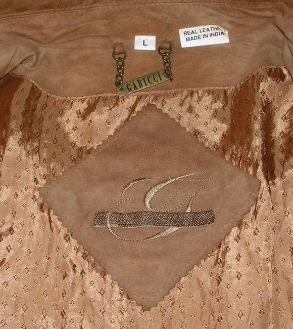 Gabicci Genuine Leather Genuine Suede Suede Ladies L Xl Motorcycle Spring Tan/beige Leather Jacket