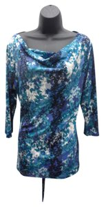 East 5th Essentials Butterflies New With Tags Top Blue