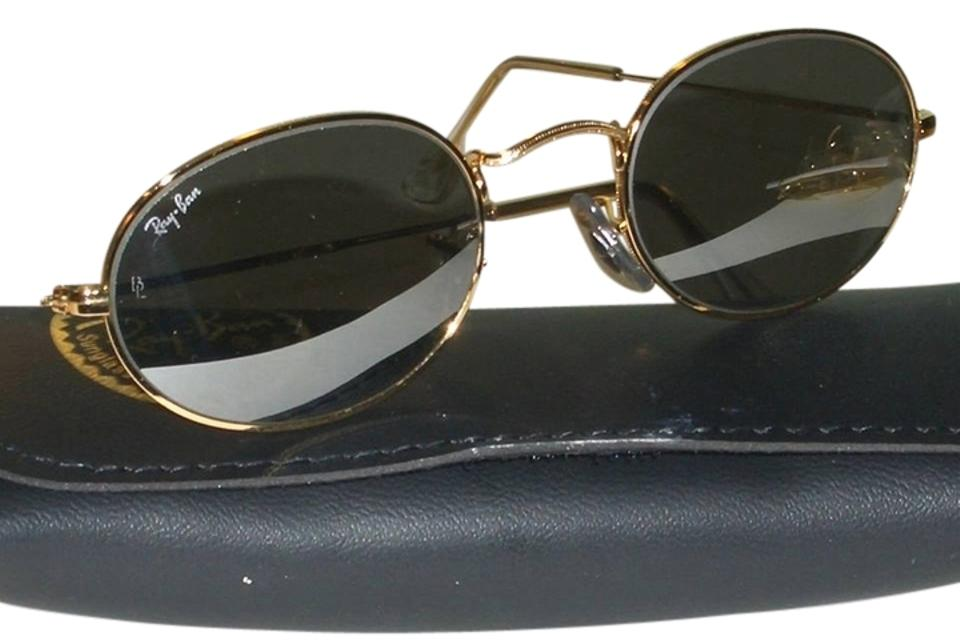 Ray-Ban Gold Vintage Oval Wire Aviator W/Case Lens Color- Green ...
