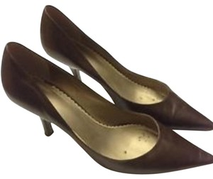 Pierre Dumas Comfy Cute Work Business Corporate Brown Pumps
